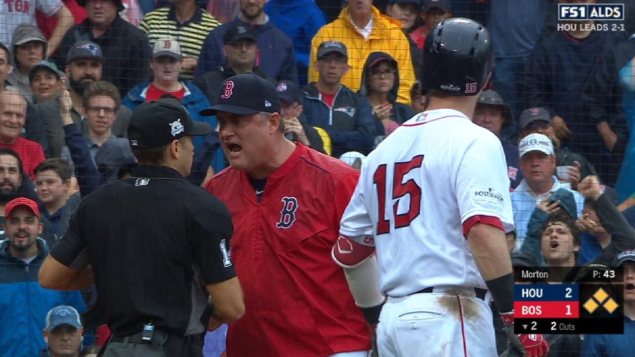 Farrell ejected after Pedroia K