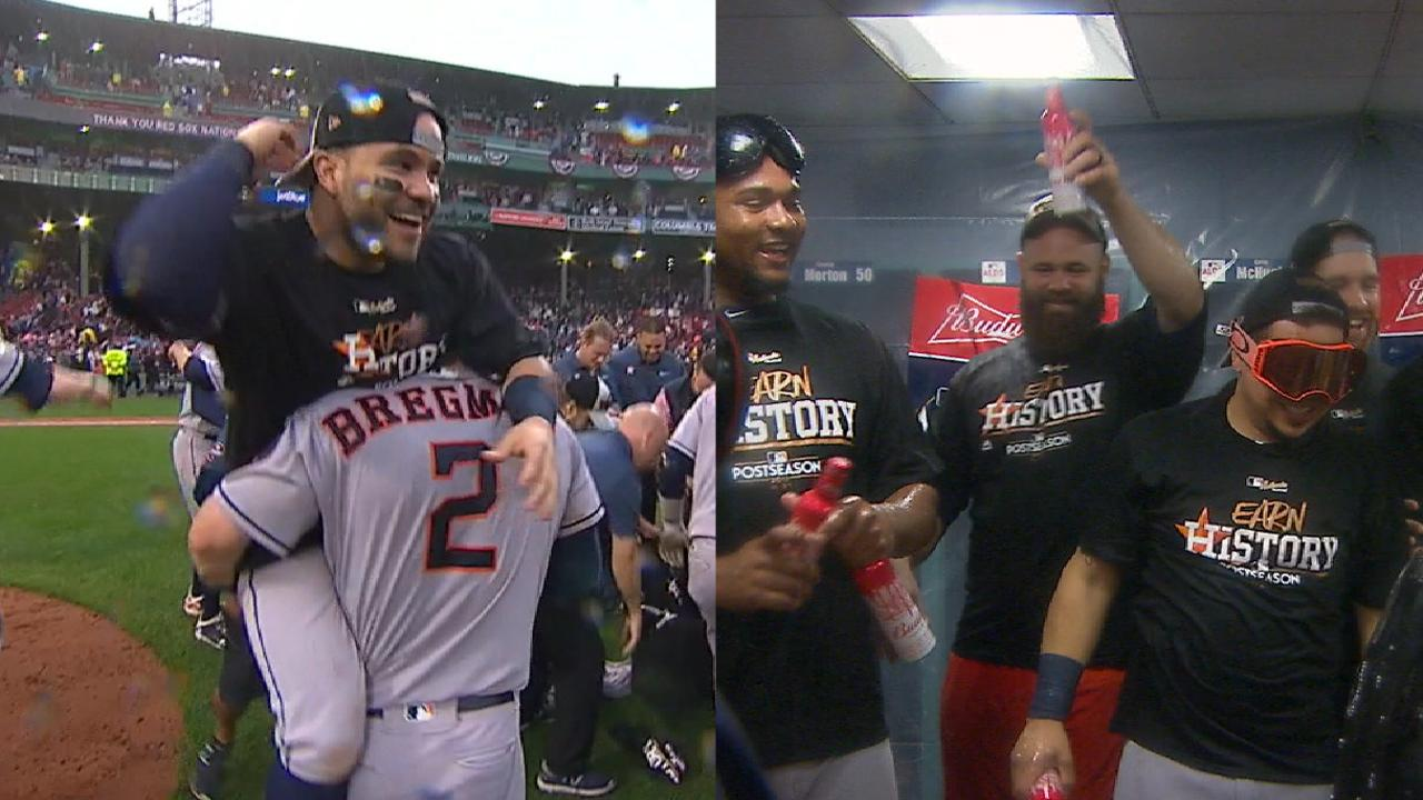 Astros clinch ALDS series win
