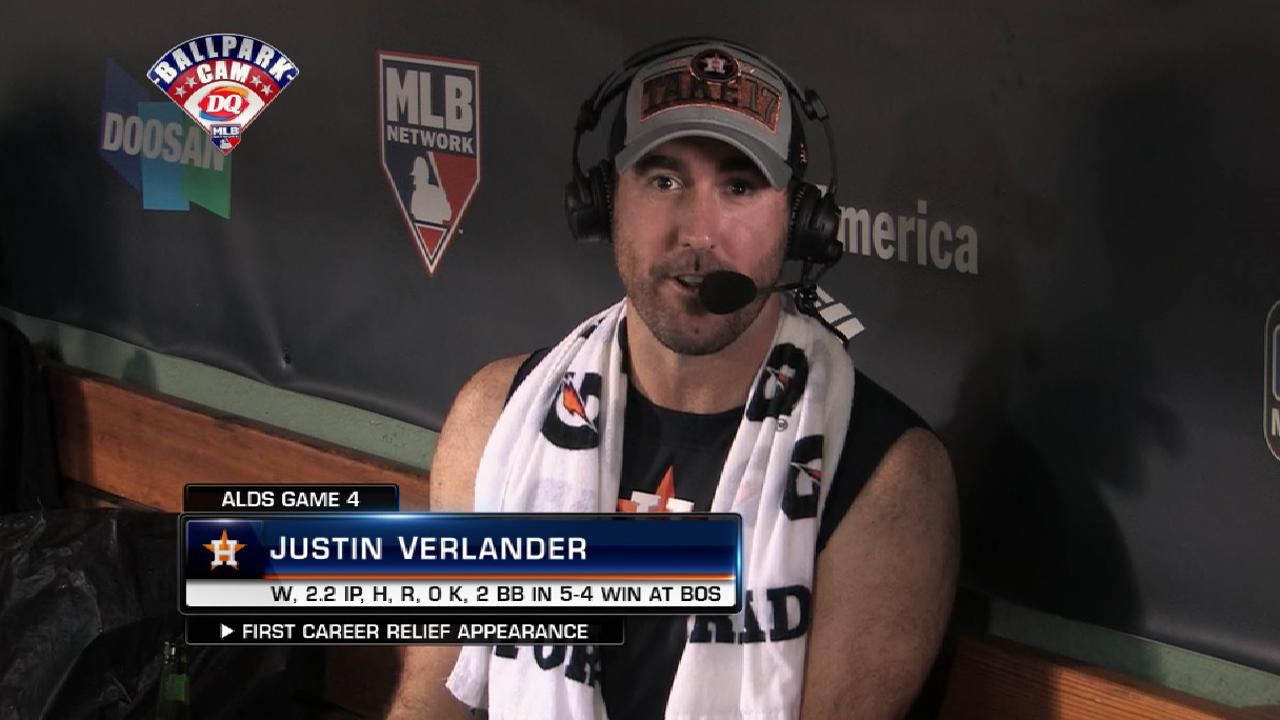 Verlander on relief appearance