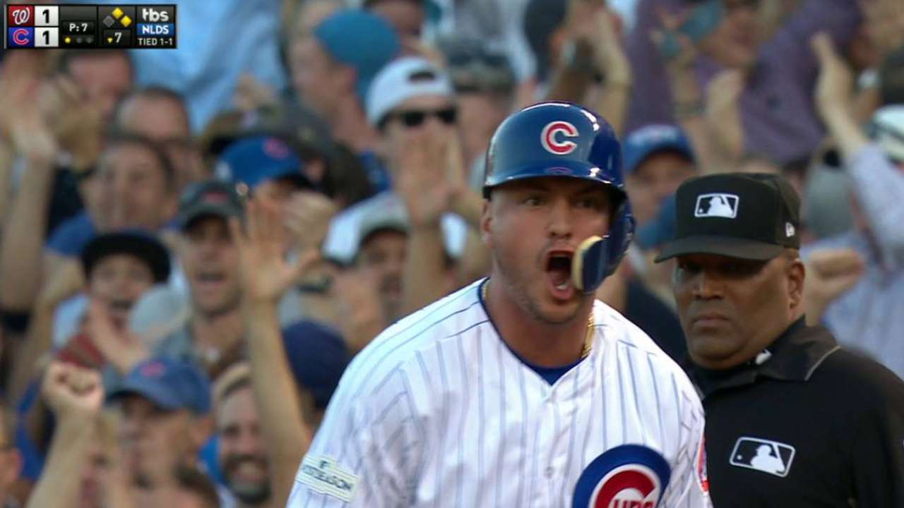 Almora Jr.'s game-tying knock