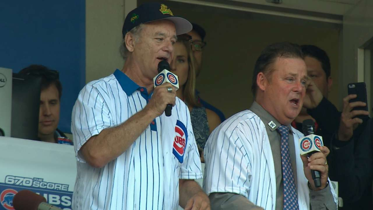 Murrays sing during 7th inning