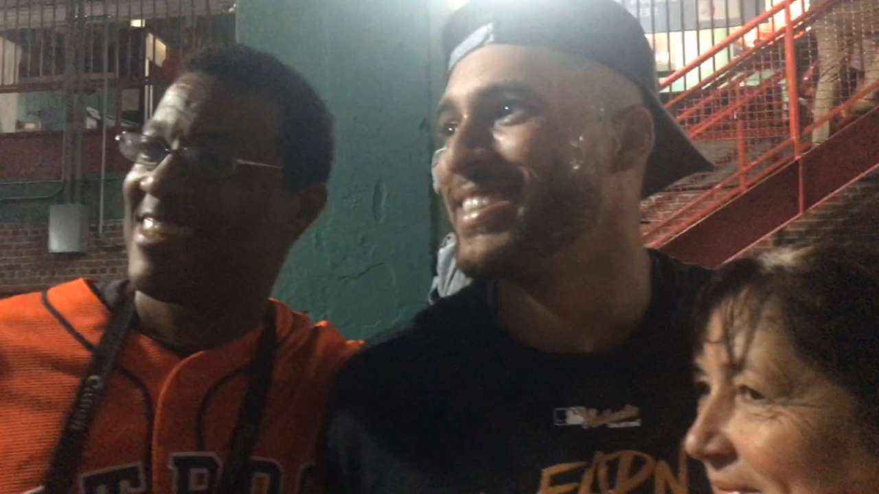 Fenway clinch special for Springer, family