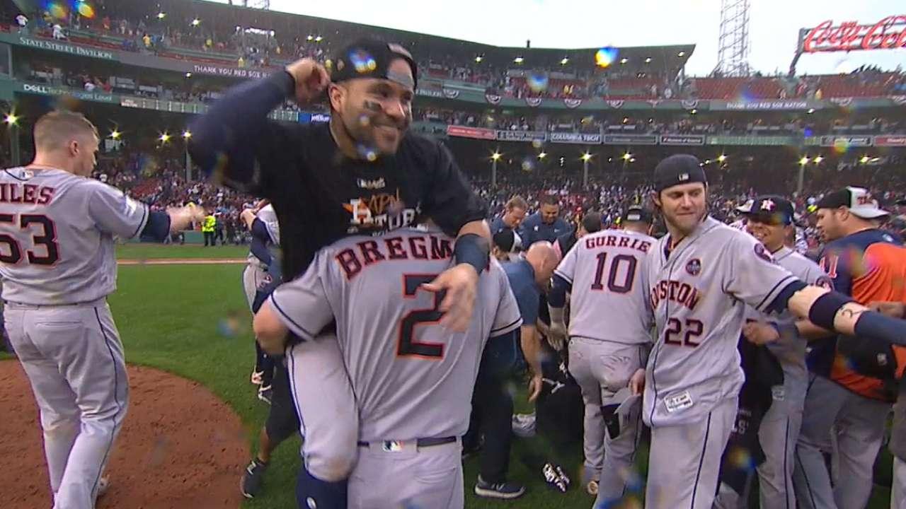 Astros celebrate winning ALDS