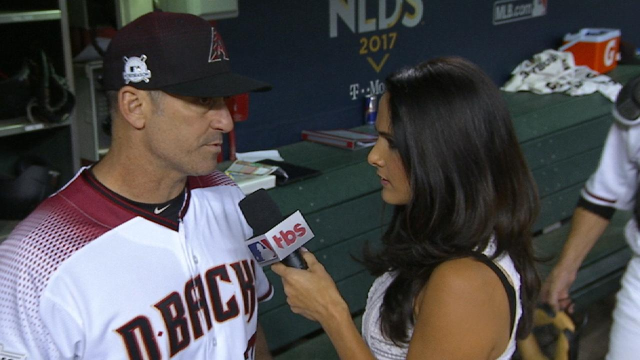 Lovullo on Greinke's pitch count
