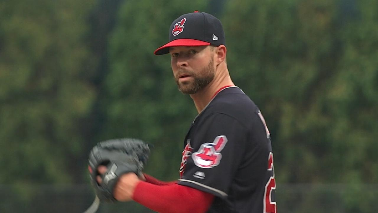 Kluber on pitching at home