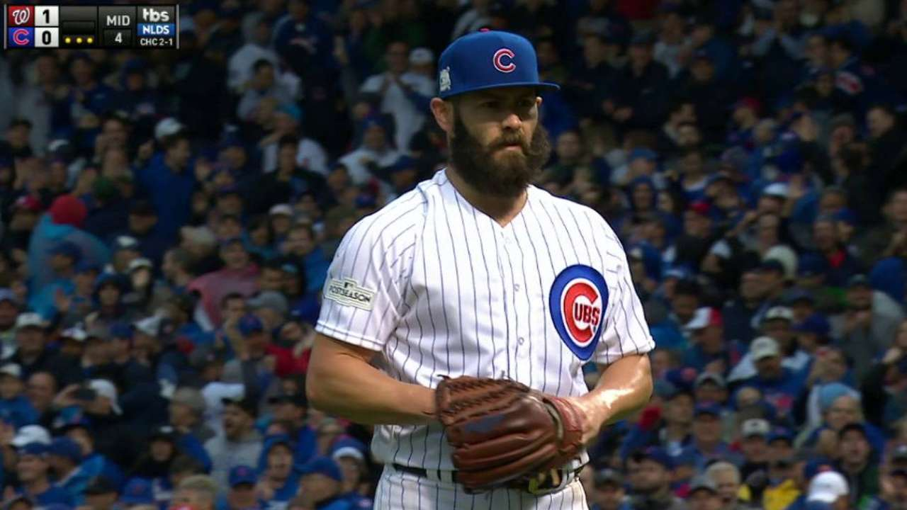 Arrieta escapes a jam in 4th