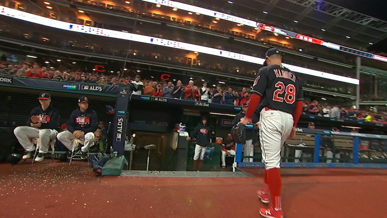 Kluber exits in the 4th inning