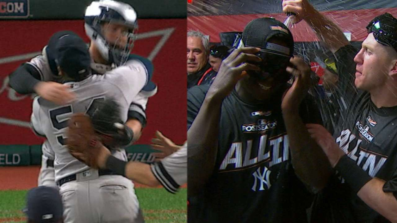 'Excited' to advance, Yanks celebrate ALDS win