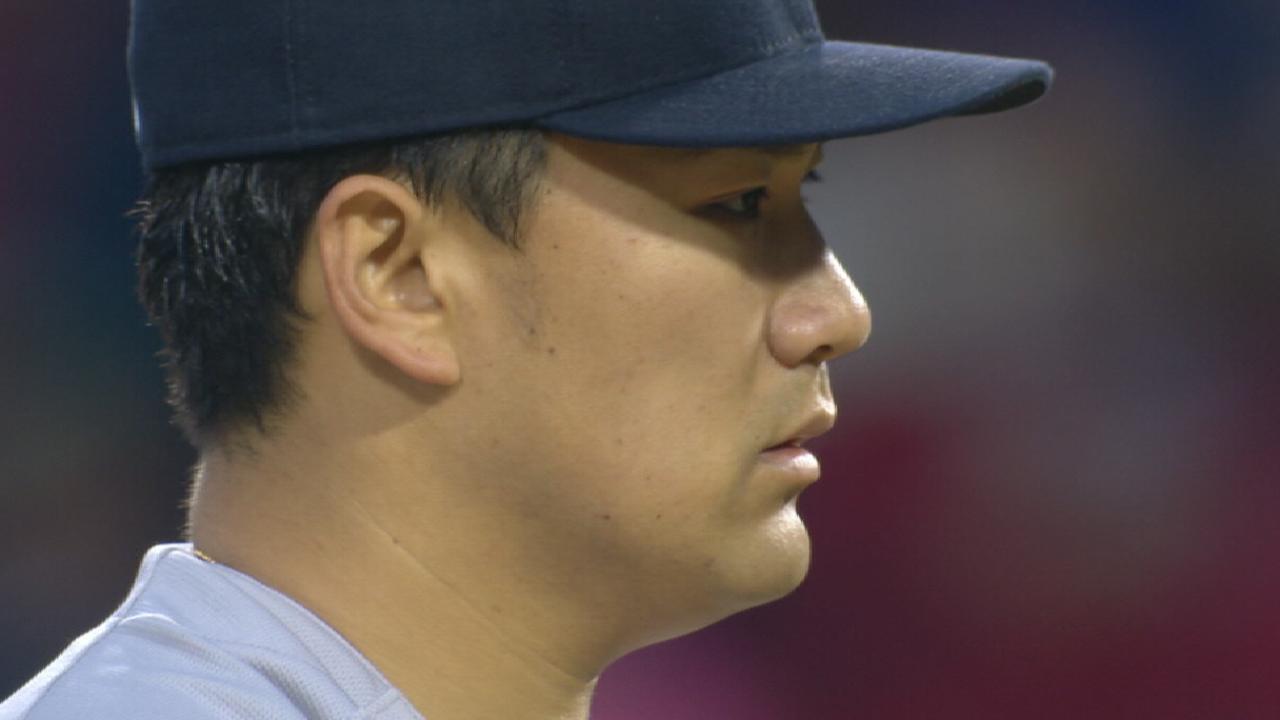 Girardi on Tanaka's splits