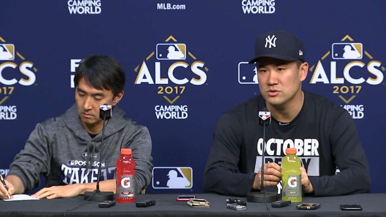 Tanaka on starting Game 1