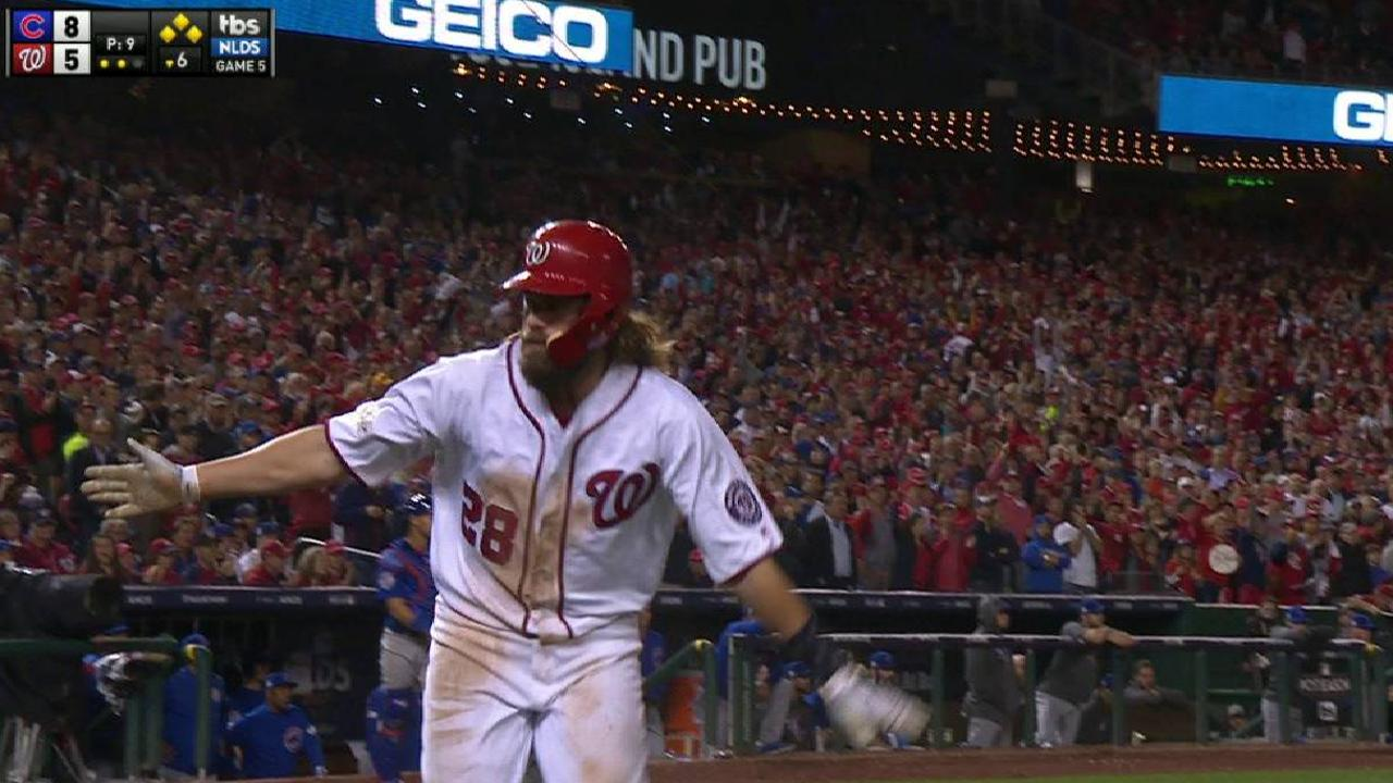 Werth scores on a wild pitch