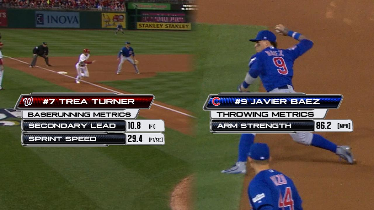 Statcast: Baez throws out Turner