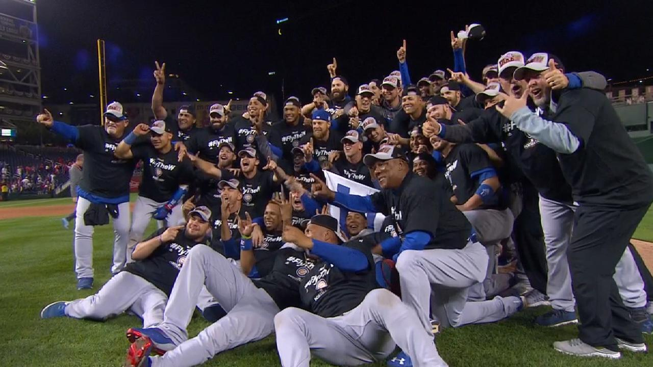 Cubs celebrate NLDS victory