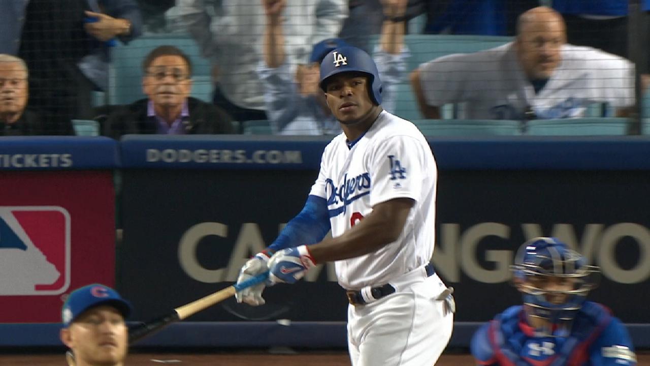 Yasiel Puig está gozando el momento con los Dodgers