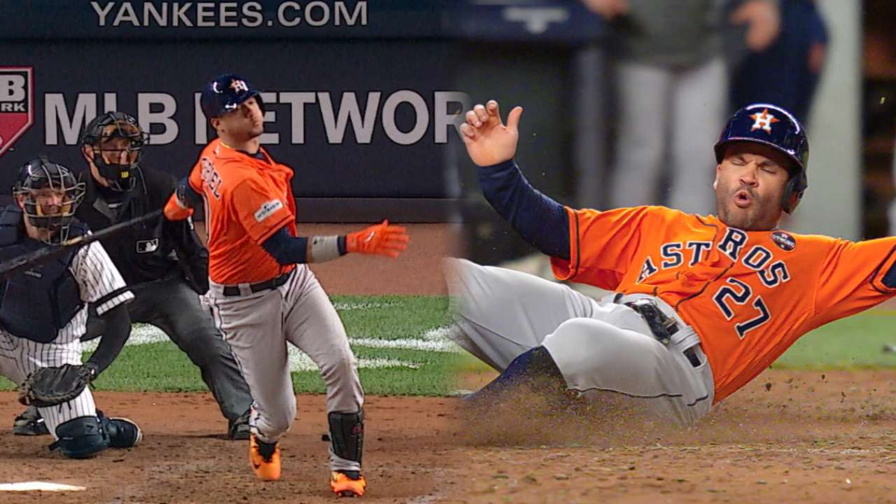 Astros can't hang on against resilient Yanks