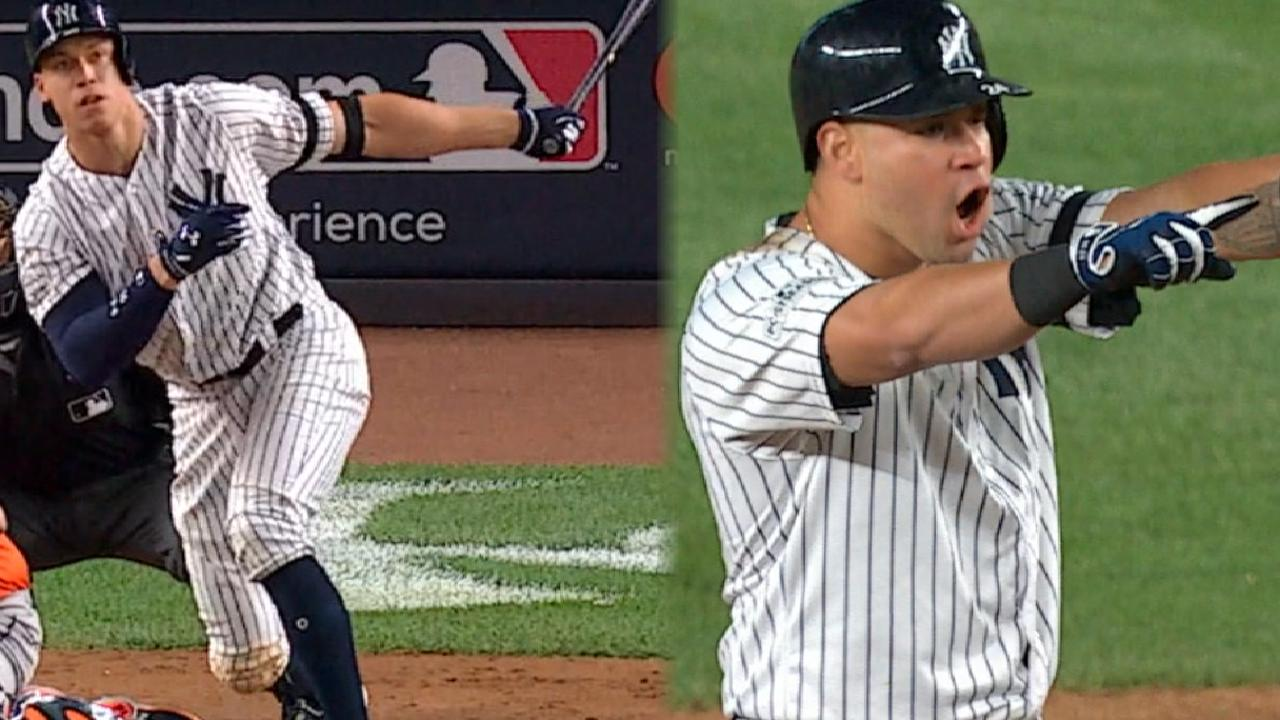 Judge helps Yanks rise in 8th to even ALCS