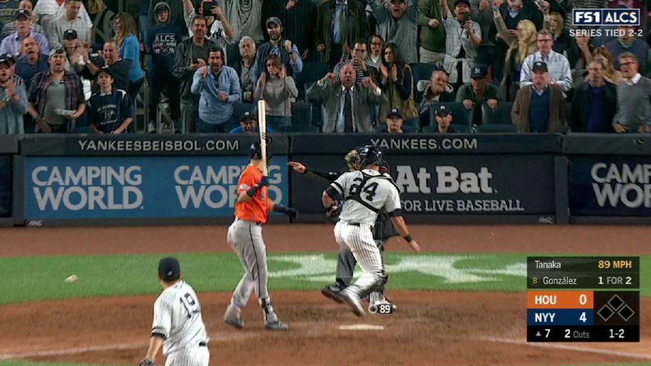 Tanaka's eighth strikeout