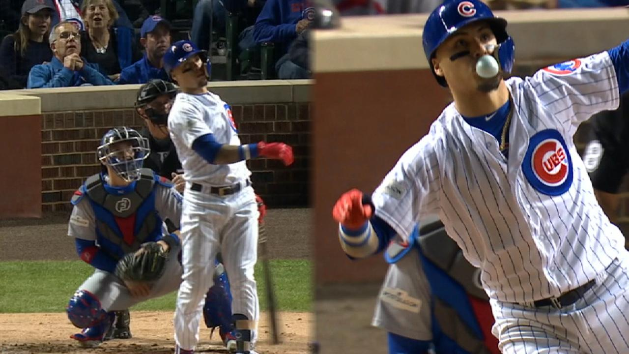 Baez's two-homer game