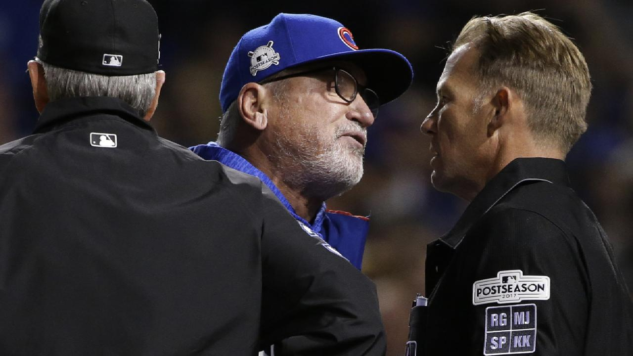 Maddon on foul-tip call