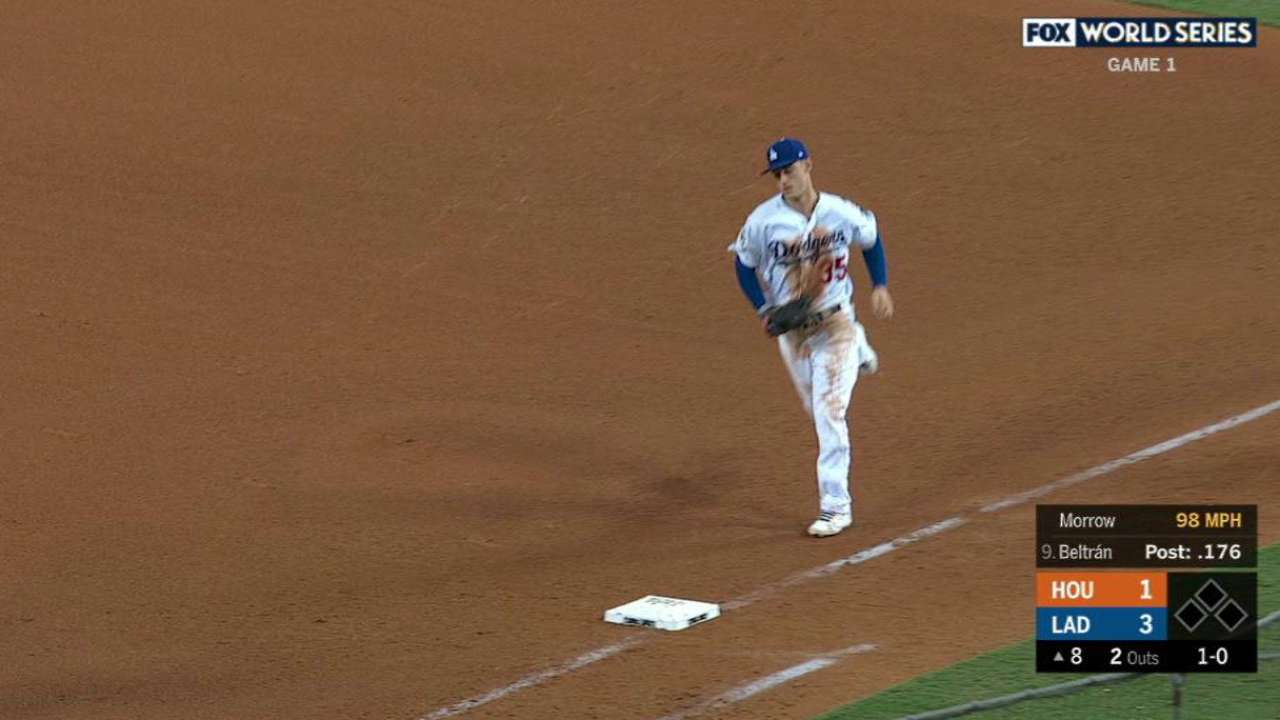Morrow completes 1-2-3 inning
