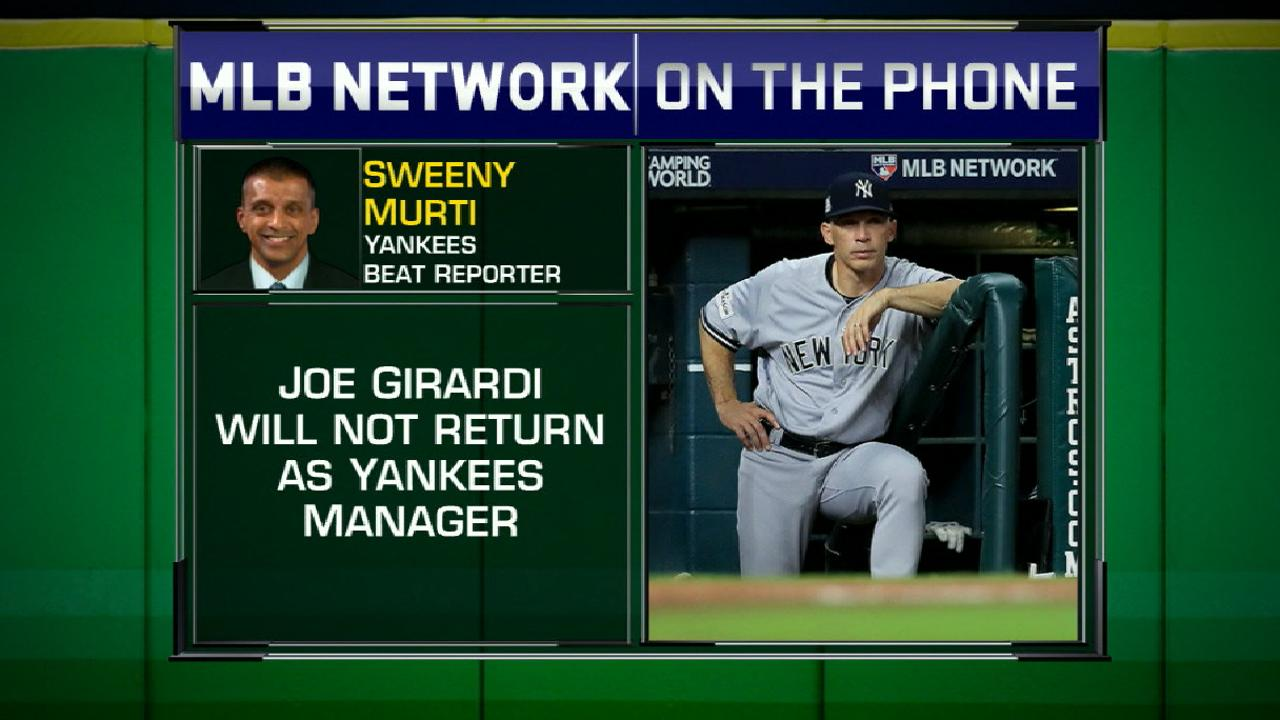 Girardi's departure from Yanks
