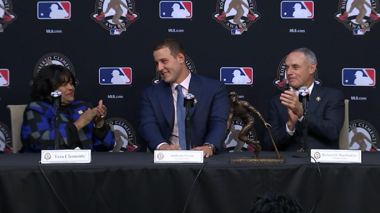Rizzo on Roberto Clemente Award