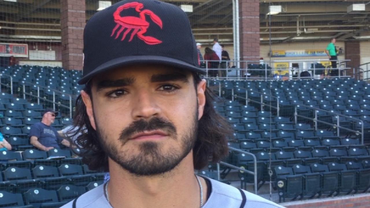 Garcia on his Fall League homer