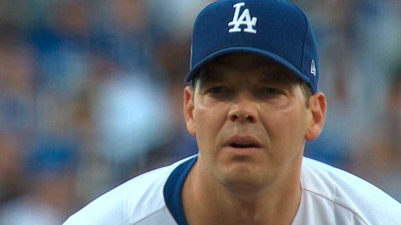 Dodgers put season on Hill's left arm in G6