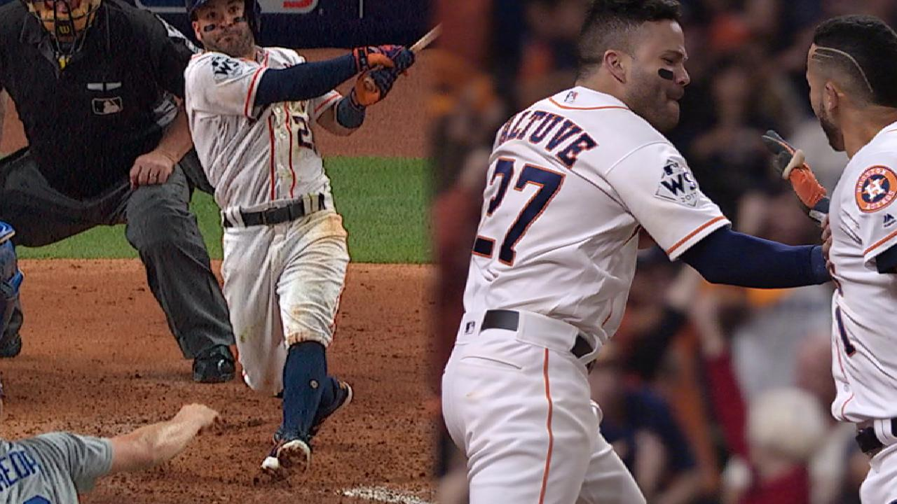 Altuve homers as part of monster night at dish