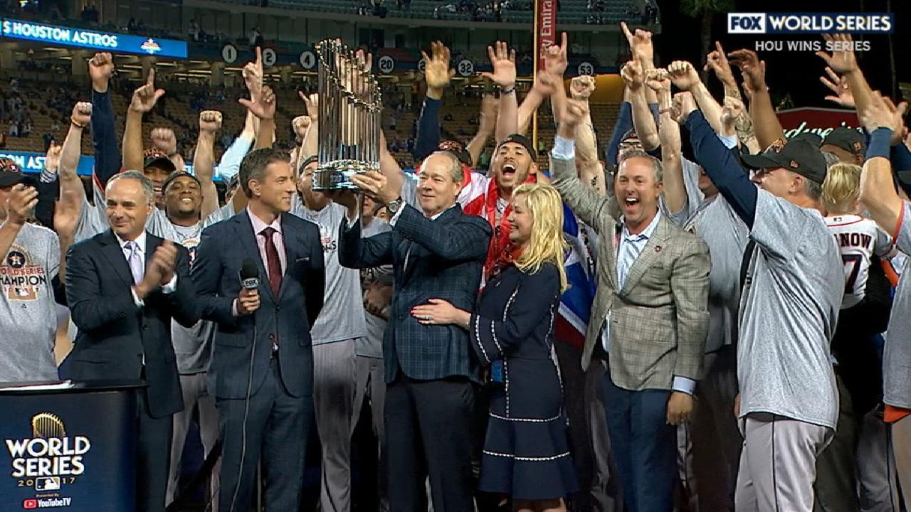 Astros get championship trophy