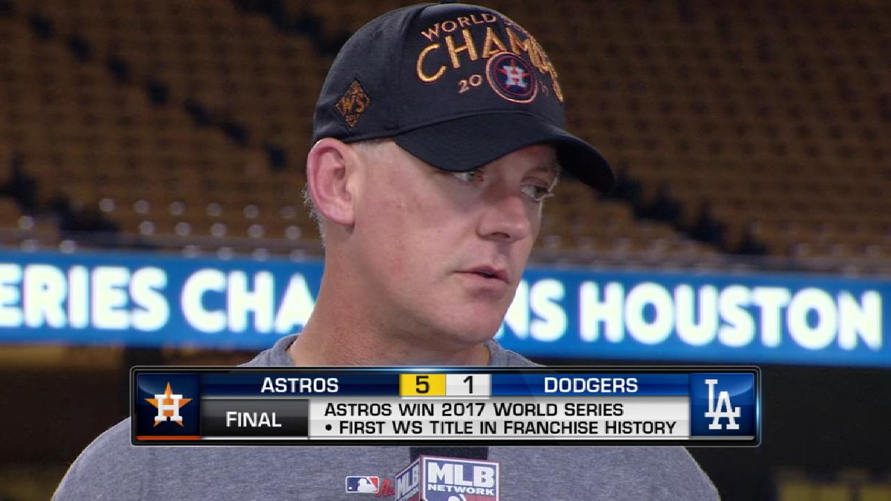 Hinch on building the Astros