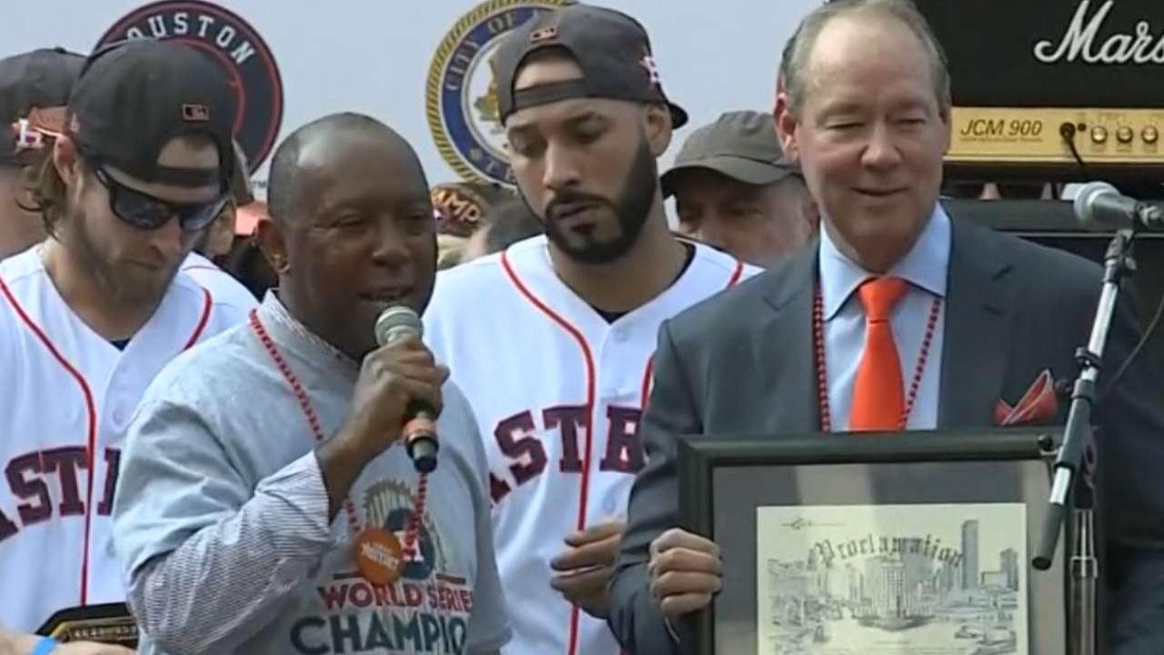 Turner congratulates Astros