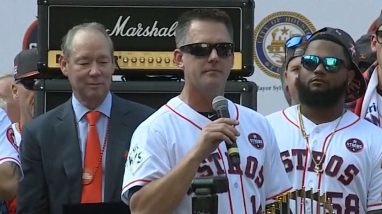 Hinch celebrates title at parade
