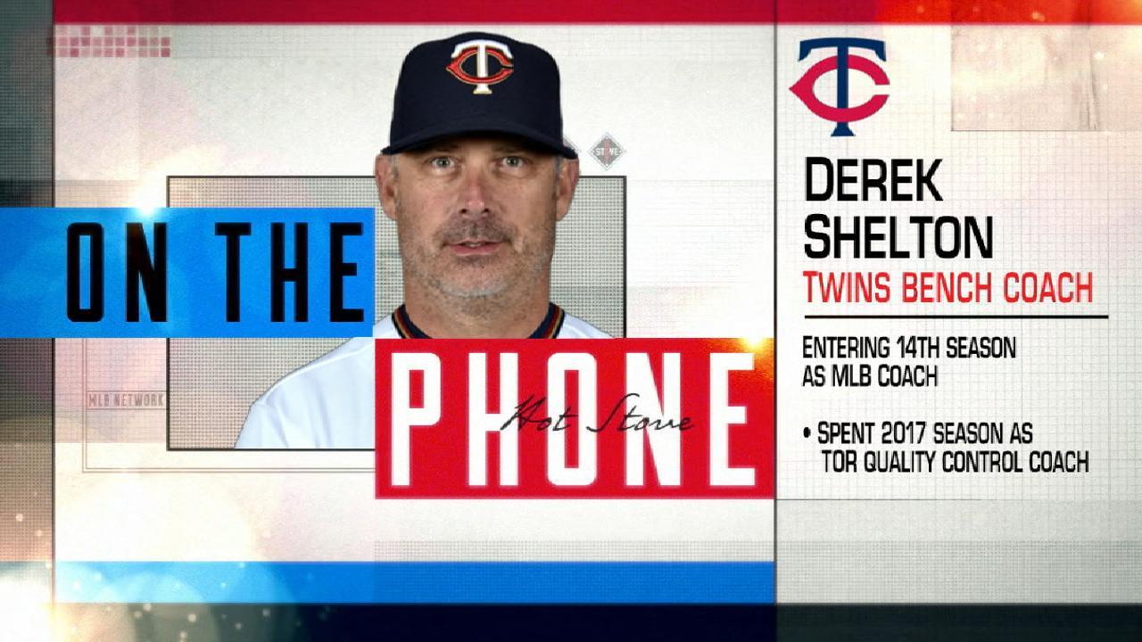 Twins name Shelton new bench coach