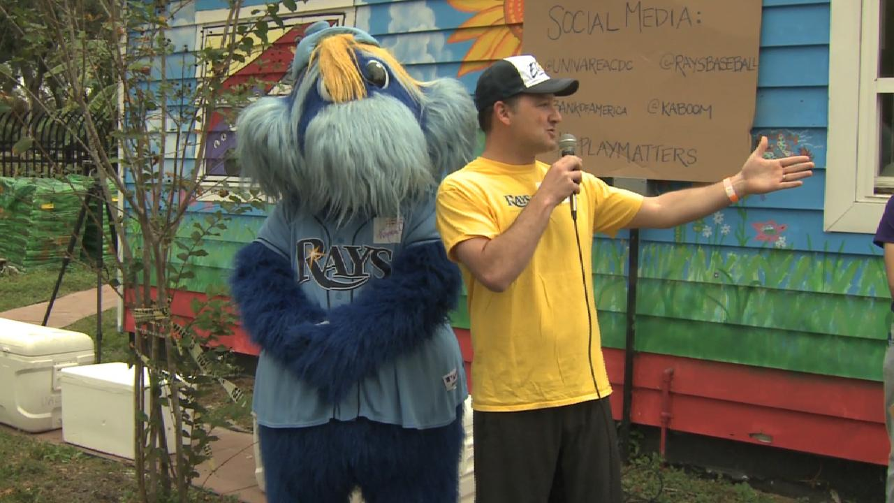 Rays team up to build playground for kids