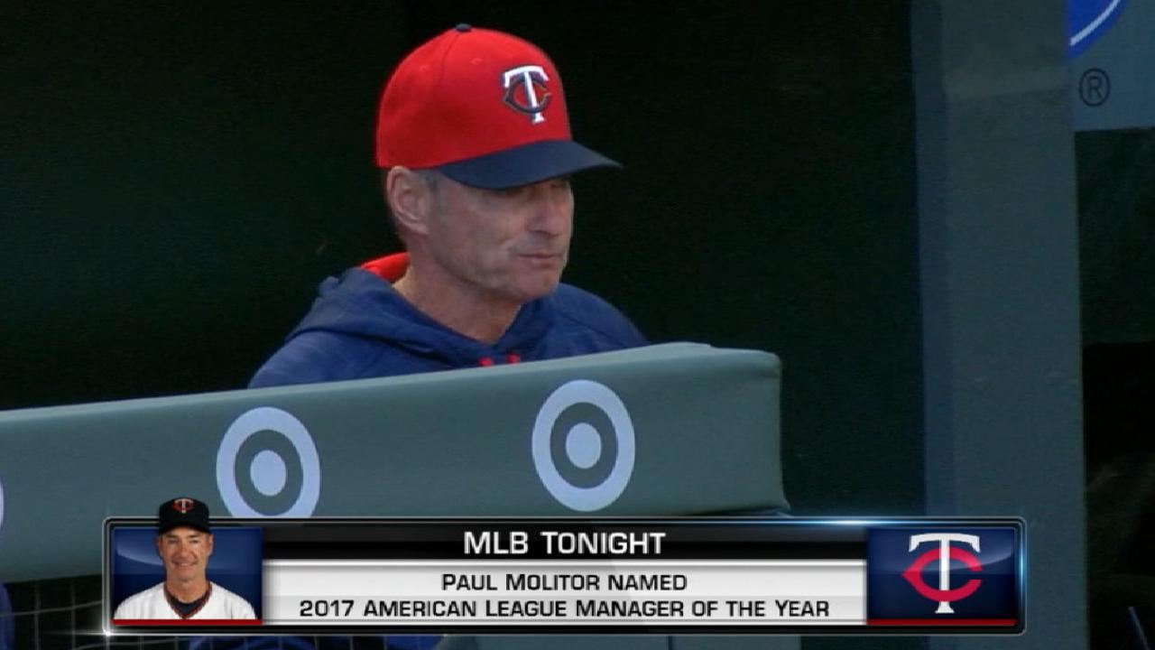 Molitor named AL Manager of Year