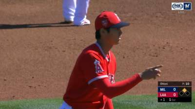 Ohtani erratic in first start for Angels