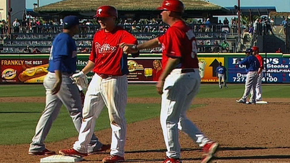 Asche's two-hit day