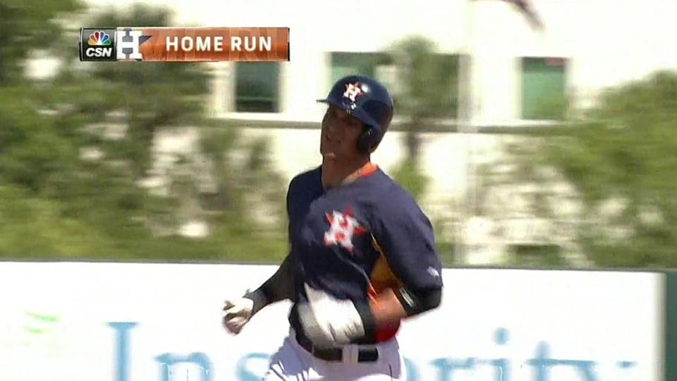 Barnes' solo home run