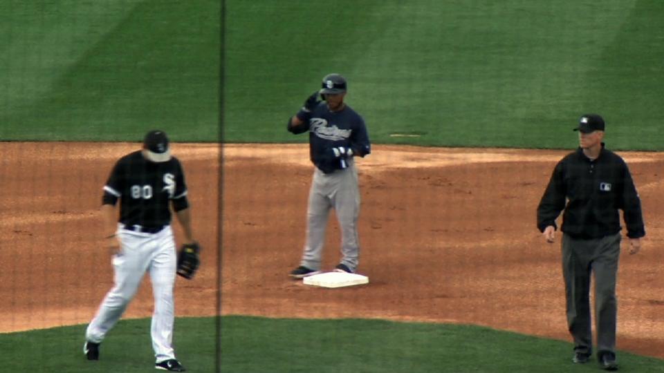Padres play three before rainout