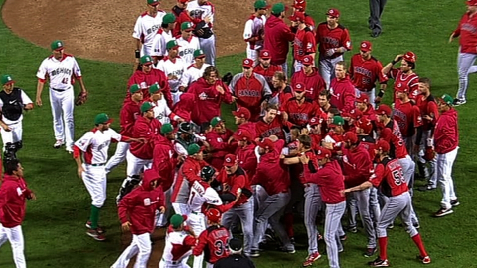 Benches clear in the ninth