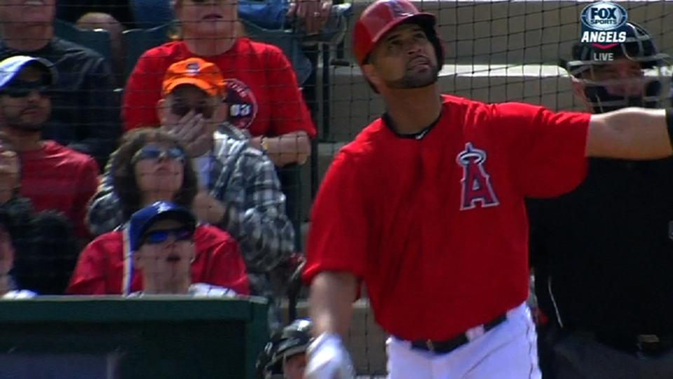 Pujols on hitting first home run