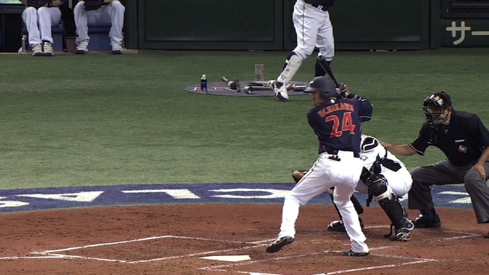Uchikawa's three-run blast