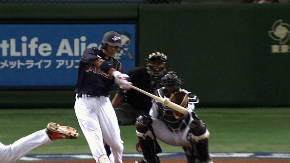 Inaba's solo home run