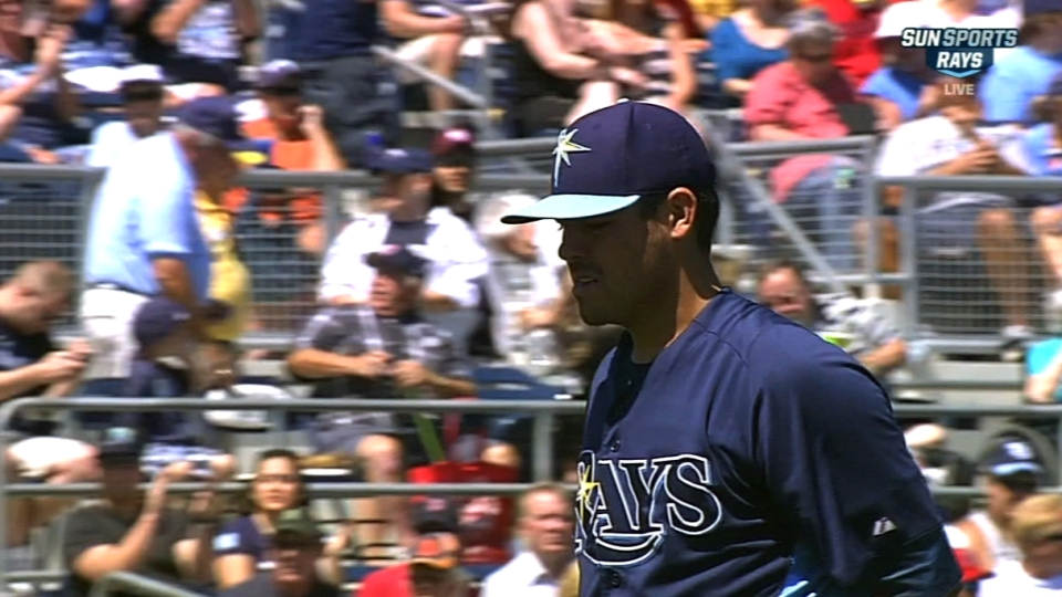 Moore's outing vs. Red Sox