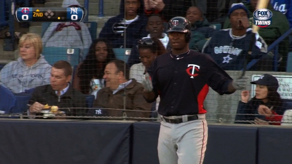 Sano collects two hits in debut