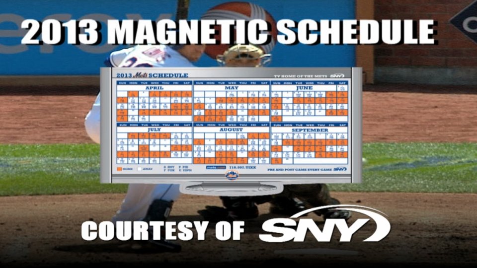 Magnetic Schedule Opening Day