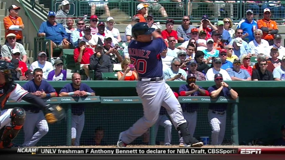 Vazquez's two-run homer