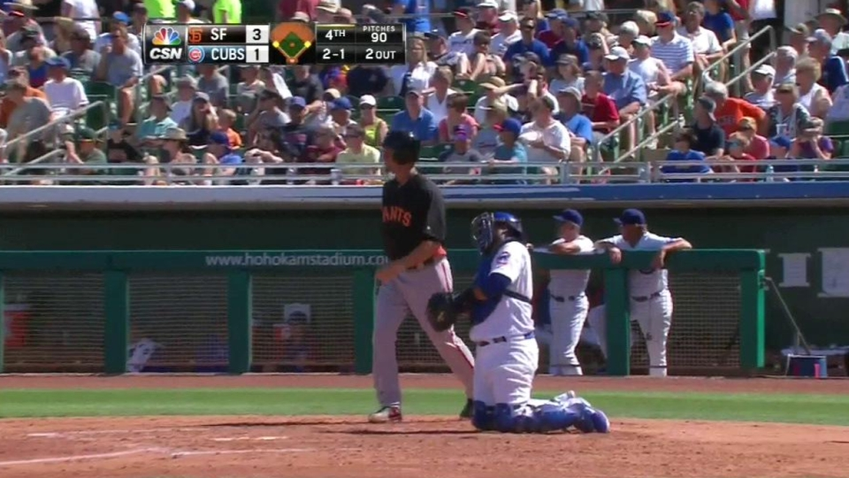 Posey's RBI ground-rule double