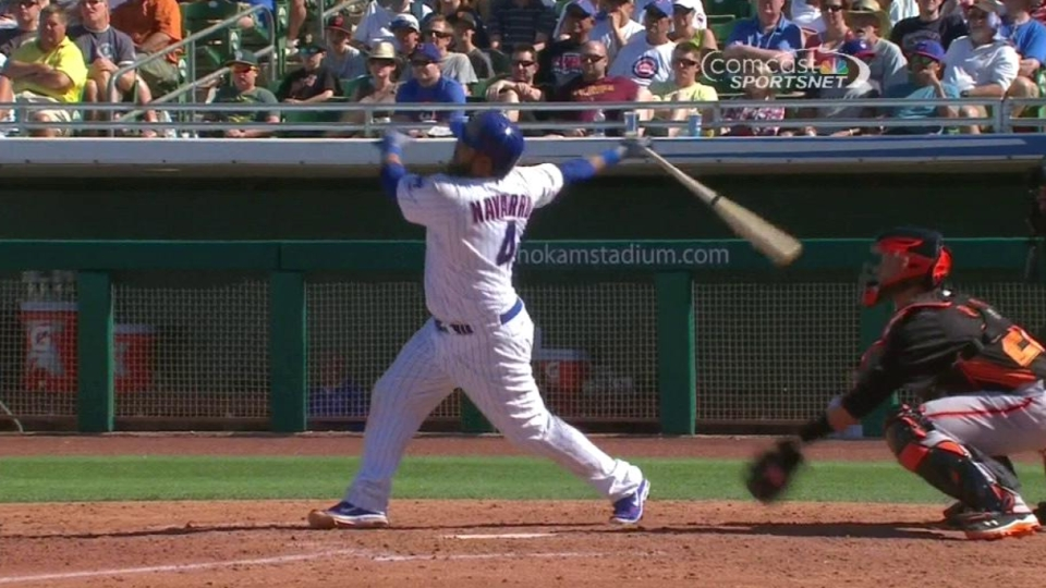 Navarro's two-run homer